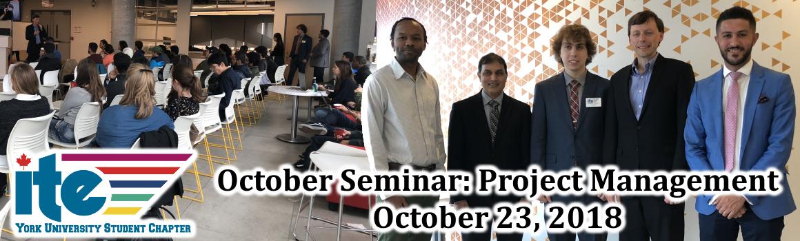 2018 October Seminar